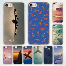 aircraft Airplane fly travel in the Sky design hard clear Case Cover for Apple iPhone 7 6 6s Plus SE 4s 5 5s 5c Phone Case