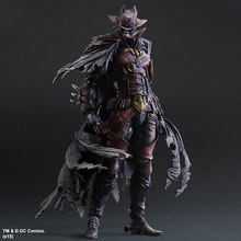 SQUARE ENIX Play Arts KAI Batman Timeless Wild West Red Ver. PVC Action Figure Collectible Model Toy 27cm