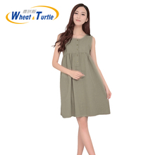 2017 New Arrival summer Fashion Maternity Casual Dresses Hot Sale Ultra Thin Wrinkle Skirt Summer Clothes For Pregnant Women