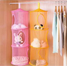 3 Shelf Hanging Storage Net Kids Toy Organizer Bag Bedroom Wall Door Closet Free Shipping