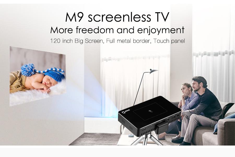 AODIN M9 mini Projector Smart Multi-touch screen1G+32G LED Portable Projectors DLP 300 lumen 5000mAh Battery HD Pocket Projector-01