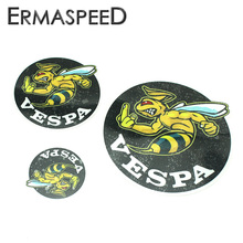Motorcycle Vespa Helmet Sticker Black Round Bee Smart Logo Decals 3 size Waterproof Anti-scratch Stickers for Piaggio Yamaha