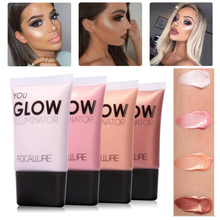 FOCALLURE Brand Makeup Glow Liquid Illuminator Face Body Highlighter Cream For Shimmer Skin Perfector Primer Highlighter Palette(China)