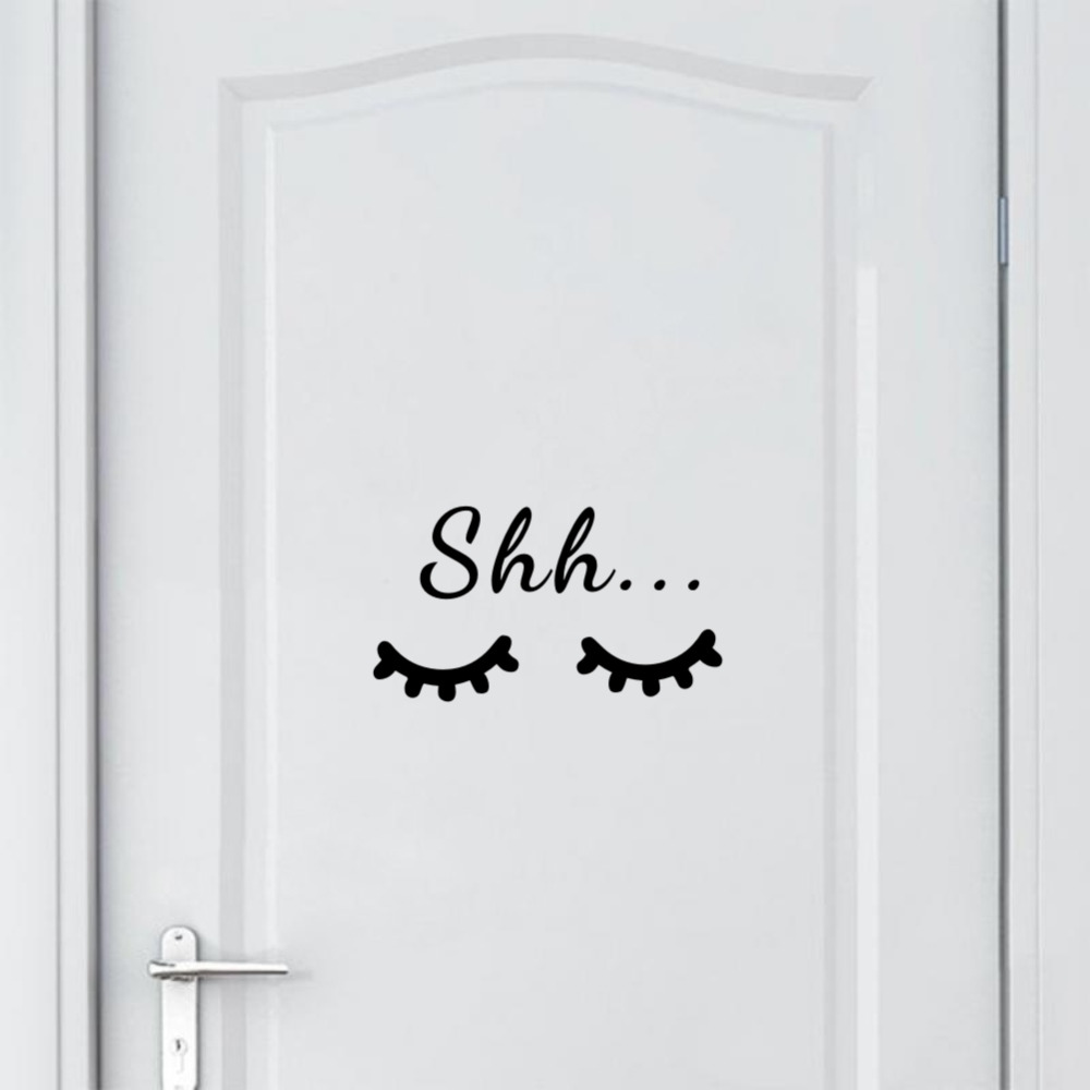 HTB1hLkAdMnH8KJjSspcq6z3QFXaj Quote Sleep Eyelash Art Wall Decal for Kids Room
