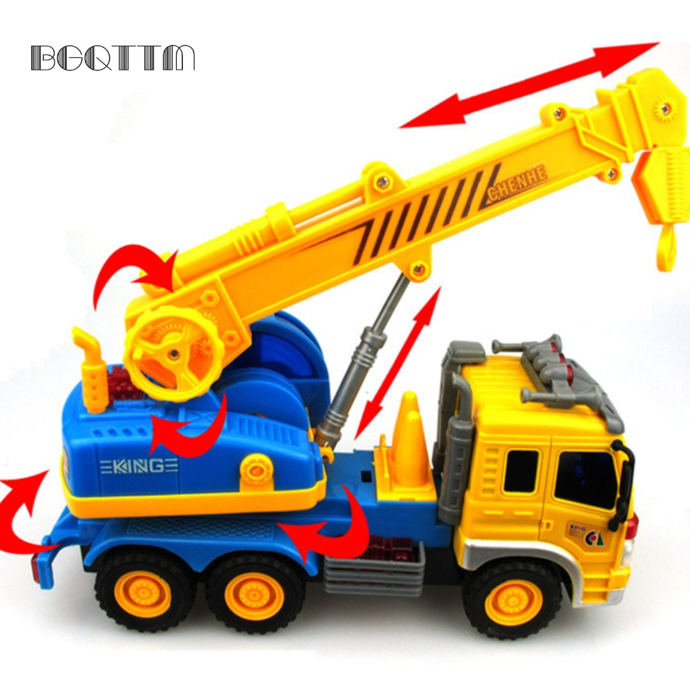Hot Mini Diecasts Car Trucks Toy Scale Models Inertial Sliding Car Crane Engineering Vehicle Toys For Children juguetes New Gift(China (Mainland))