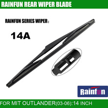 "Buy RAINFUN dedicated rear wiper blade MIT OUTLANDER 2.4AT, 14"" MITSUBISH OUTLANDER 2.4AT 05Y rear wiper blade for $7.73 in AliExpress store"