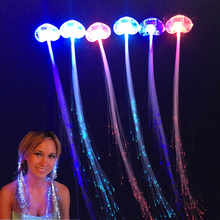 2017 New Sale Invitations 30pcs Clip Light-up Flashing Barrette Fiber Optic Hair Assorted Led Headwear For Party Girl Dress(China)
