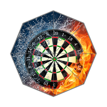 Flaming Dart Board Pattern Custom Portable Folding Travel Design Rain and Sun Beach Umbrellas Hat Unique Parasol Umbrella