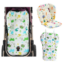 Baby Stroller Car Seat Pad Thick Seat Cushion Waterproof Cover For Baby Stroller Accessories Carriage Dining Chair Winter Pad(China)