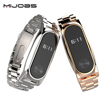 Buy Mijobs Metal Strap Xiaomi Mi Band 2 Straps Screwless Stainless Steel Bracelet Smart Band Replace Accessories Mi Band 2 for $11.30 in AliExpress store
