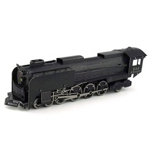 Colorful Steam Locomotive Car Styling Fun 3d Metal Diy Miniature Model Kits Puzzle Toys Children Educational Boy Splicing Hobby
