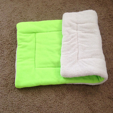 Dog Cat Puppy Washable Warm Fluffy Fleece Pet Mat Kennel Cage Pad Pet Cushion(China)