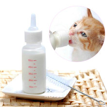 50ml Kitten Feeding Bottles Brush Replacement Nipple Plastic Pet Small Dog Puppy Cat Nursing Care Milk Bottle Set Feeder Kit