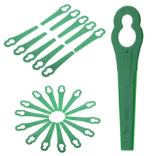 50Pcs Green Plastic String Trimmer Blades for Garden Lawn Mower Replacement Blade Garden Grass Trimmer Tools Mayitr