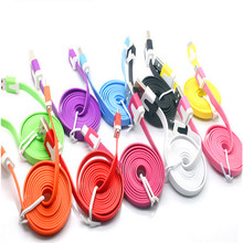 MOONBIFFY 1M 2M Flat v8 Micro USB 2.0 Mobile Phone Charger Cable for Samsung j5/a5/a3/Lg g3/g2 redmi 3 for Iphone 6 6s 5