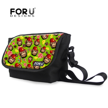 High Quality Women Cotton Crossbody Bags Cute Animal Monkey Printing Messenger Bags Casual Brand Women Shoulder Bags