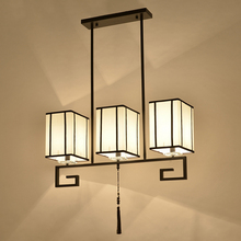 Pendant Lights New Chinese restaurant three teahouse Chinese fabric study lamp LU628 ZL451(China)