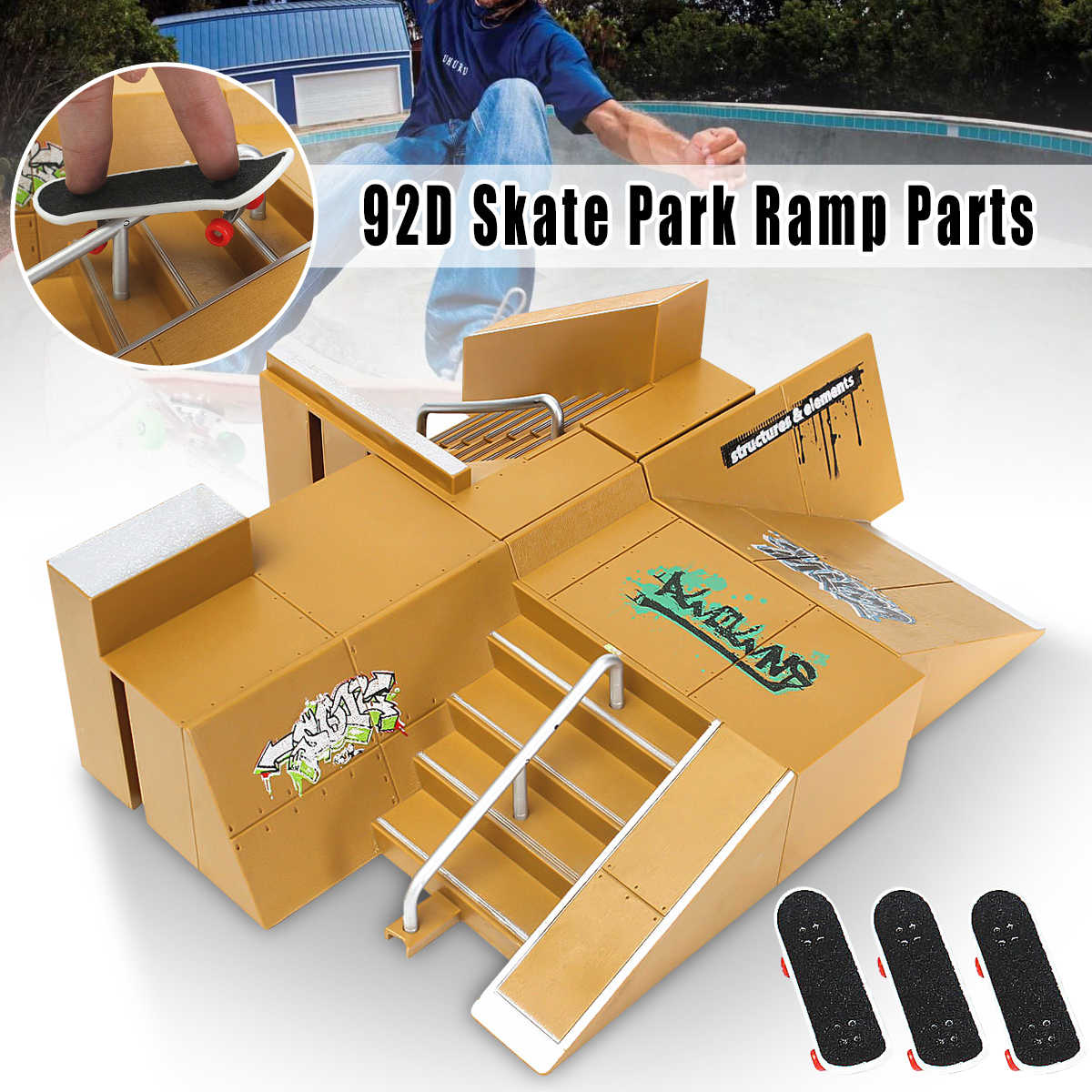 Detail Feedback Questions About 92d Skate Park Kit Ramp Parts For Skateboard Diagram Tech Deck Fingerboard Excellent Gift Extreme Sports Enthusiasts Sport Training On
