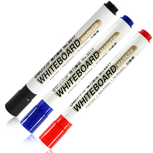 Deli Whiteboard Marker Pen Black Blue Red Ink Vivid Color Easy To Erasing Not Easy To Leave Markers Office School Supplies(China)