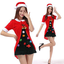 Sexy Ladies Christmas Mini Fancy Dress Miss Santa Claus Costume Xams Party Outfit Cute