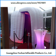 OEM yijia inflatable party round photo booth with LED lights