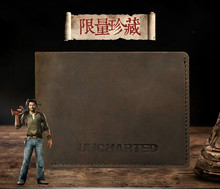 PS4 game Uncharted cow leather wallet Game Related Products Special collections action figure