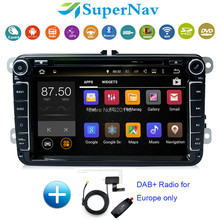Android 7.1 Two Din 8 Inch Car DVD Player Fit VW Jetta Passat CC Golf Sagitar With Wifi 2G RAM BT DAB+ Radio DVD GPS Navigation(China)