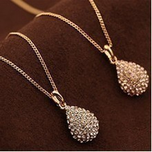 Tomtosh Free shipping fashion  Water droplets studded short clavicle Necklace Fashion Droplets Necklace