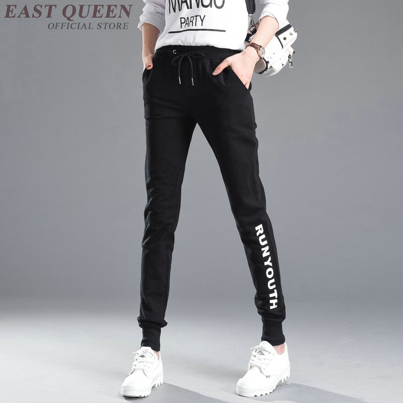 Cropped sexy track pants women harem black joggers women sweat pants female trousers sweatpants streetwear KK2074