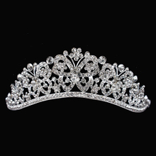 Wedding Crystal Butterfly Crown Princess Queen Pageant Prom Hair Accessories Rhinestone Hair Jewelry Bridal Luxury Tiaras