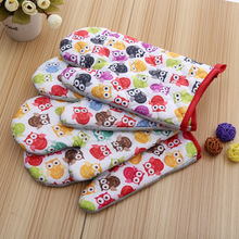 5 Pieces Small Owls Printed Cotton Oven Mitts for Out door BBQ or Kitchen Supplies Oven Glove(China)