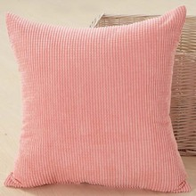 Sofa DecorCorn kernels Corduroy throw Pillow Case Cushion Cover Square 45cm pink EHO