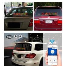 12v 24v Voltage Car Bus Taxi Factory Message Indoor WIFI Remote Multicolor RGY Electronic Advertising LED Display Board