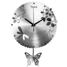 Simple Butterfly Aluminum Wall Clock Modern Design Living Room/Bedroom Mute Wall Watch Home Decor Art Clock Wall Digital Clock