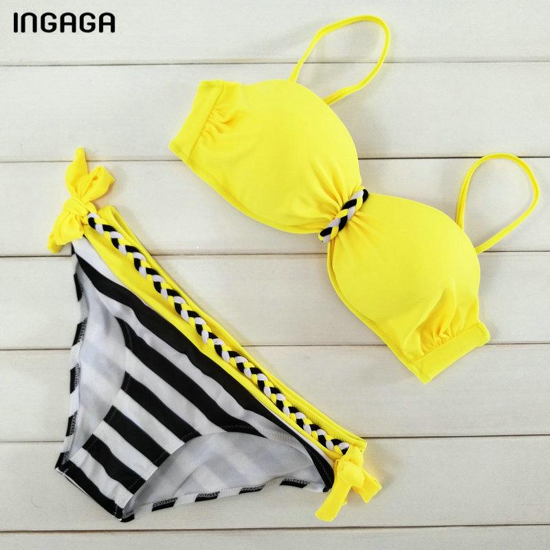 INGAGA Sexy 17 Bikini Set Push Up Swimwear Women Strap Bandage Swimsuit Bathing Suits Summer Beach Bathing Suits XXXL 11