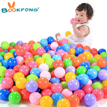 BOOFKONG 10pcs Eco-Friendly Colorful Soft Plastic Water Pool Ocean Wave Ball Baby Funny Toys stress air ball outdoor fun sports(China)
