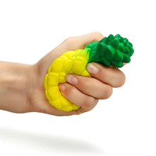 2017 New Children's Toys Squeeze Simulation Pineapple Super Reliever Stress Toy Reduce Stress Reliever Stress Ball Toys AY892728(China)