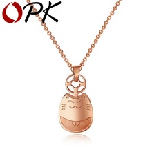OPK JEWELRY 2014 New Trendy Lovely Lucky Cat Pendent Jewelry Cut Totoro Animal Necklace gift for girl / women, 896