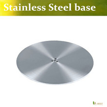U-BEST  Table Base Stainless steel  Round table base diameter 450mm Foot stand ,Base plate round for stainless steel column leg