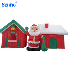 X020 Commercial Inflatable Santa Claus and Snowman Christmas House Decoration,Christmas Inflatable Santa's Grotto(China)