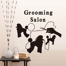 Dogs Salon DIY Wall Sticker For Grooming Salon Pet Shop Creative Mural Decal For Pet Store Decoration Wall Art Decor Accessories(China)