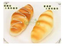 13.6CM Miniatures artificial fake bread simulation PU material cute cheese bread kitchen furnishing articles 2pcs/lots