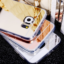 Clear Silicon TPU Mirror Case For Samsung Galaxy S6 S6 Edge / S6 Edge Plus / S7 S7Edge Case Luxury Ultra Thin Cover