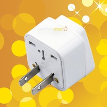 Universal UK/US/EU/AU 3 Pins / 2 Pins Socket to United States America Japan JP Canada CA USA Travel Power Adapter Plug