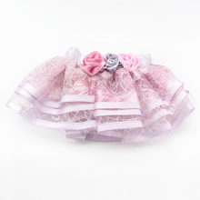 Armi store Roses Decorated Dog TUTU Skirt Princess Skirts For Dogs 6071063 Pet Clothes Supplies XS S M L XL