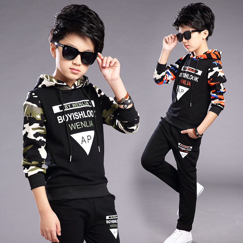 2017 New Spring Boys Clothing Sets For Boys Camouflage Sports Suits Spring Kids Tracksuits Teenage Boys Sportswear<br><br>Aliexpress
