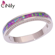 CiNily Created Pink Fire Opal Silver Plated Ring Wholesale Retail Fashion for Women Jewelry Ring Size 6 7 8 9 10 OJ9000