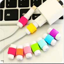 New For iPhone 7 6s 5s Plus For Xiaomi mi5 For Samsung Galaxy S6 Edge Square USB Protective Sleeve Charging Cable Earphone Line