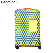 Petminru Colorful Polka Dot Luggage Protector Cover Elastic Travel Suitcase Cover Apply to 18-28inch Travel Accessories Supplies(China)