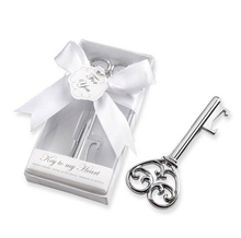 FREE SHIPPING by DHL,FEDEX,UPS(50pcs/Lot)+White Gift Box With Ribbon Wine Bottle Opener Wedding Favors&Gifts For Guests